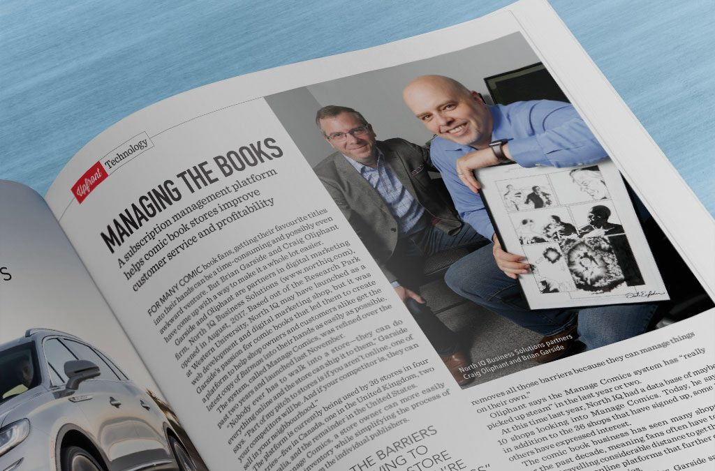 Manage Comics Featured in London Inc